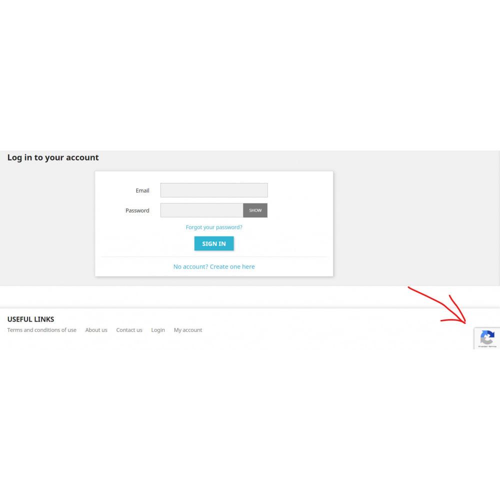 module - Sécurité & Accès - Google Re-Captcha v3 - 3