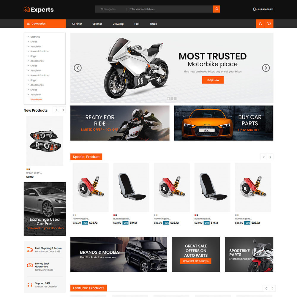 theme - Carros & Motos - Expert Tool  - Car Parts Auto Store - 2