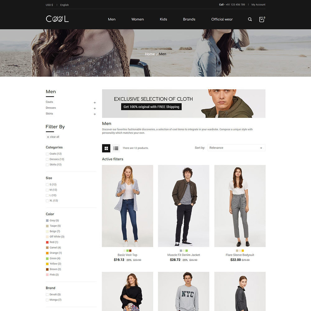 theme - Мода и обувь - Cool - Fashion Store - 2