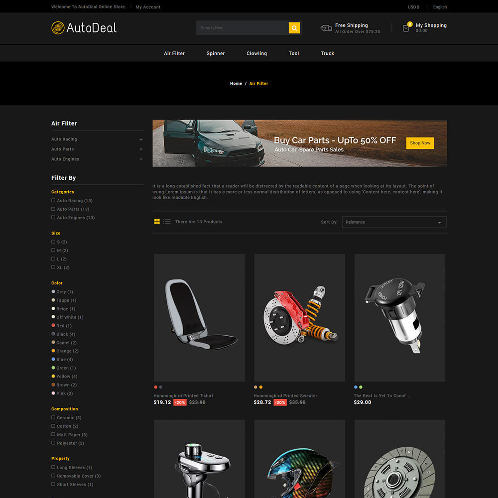 theme - Carros & Motos - Autodeal Car Parts  - Auto Store - 3