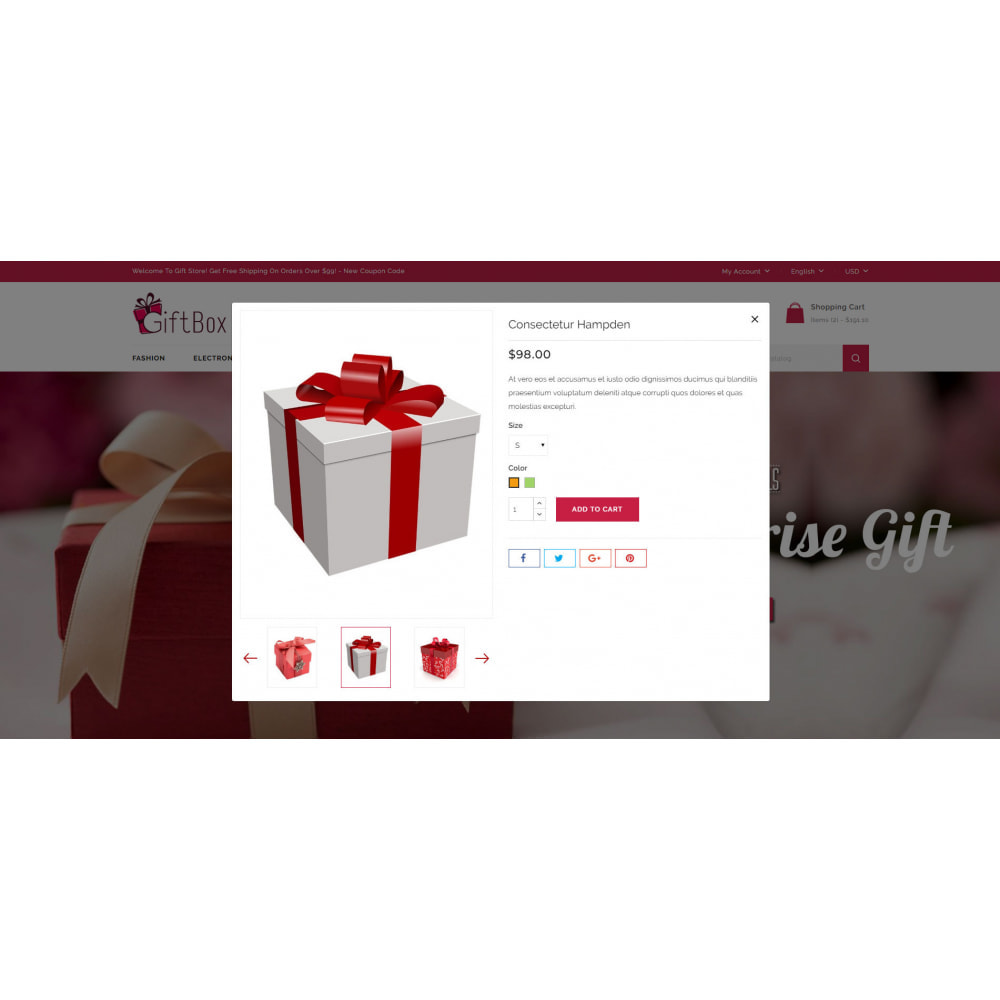 theme - Gifts, Flowers & Celebrations - Gift Box - 7