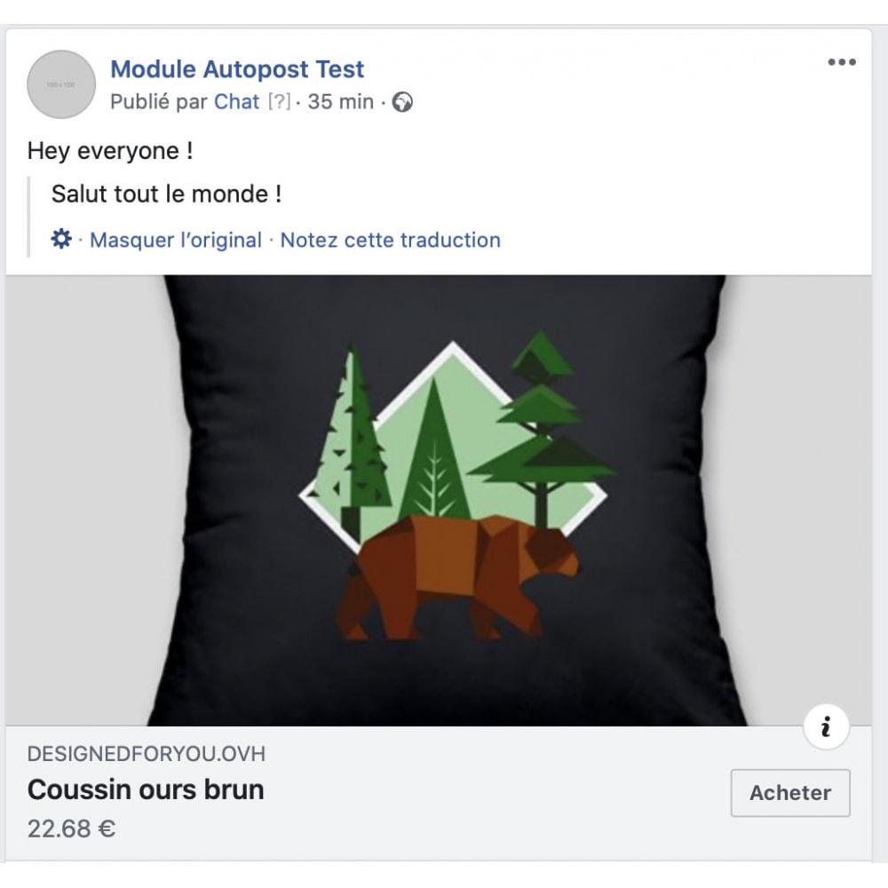 module - Produtos nas Facebook & Redes Sociais - Auto-Post Products to FB Wall - 1