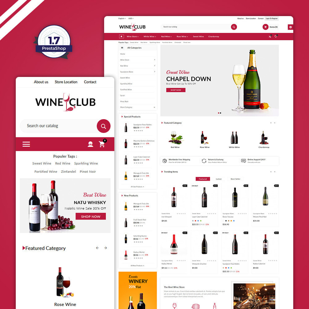 theme - Drink & Tobacco - Red Wine & Beer Shop - 1