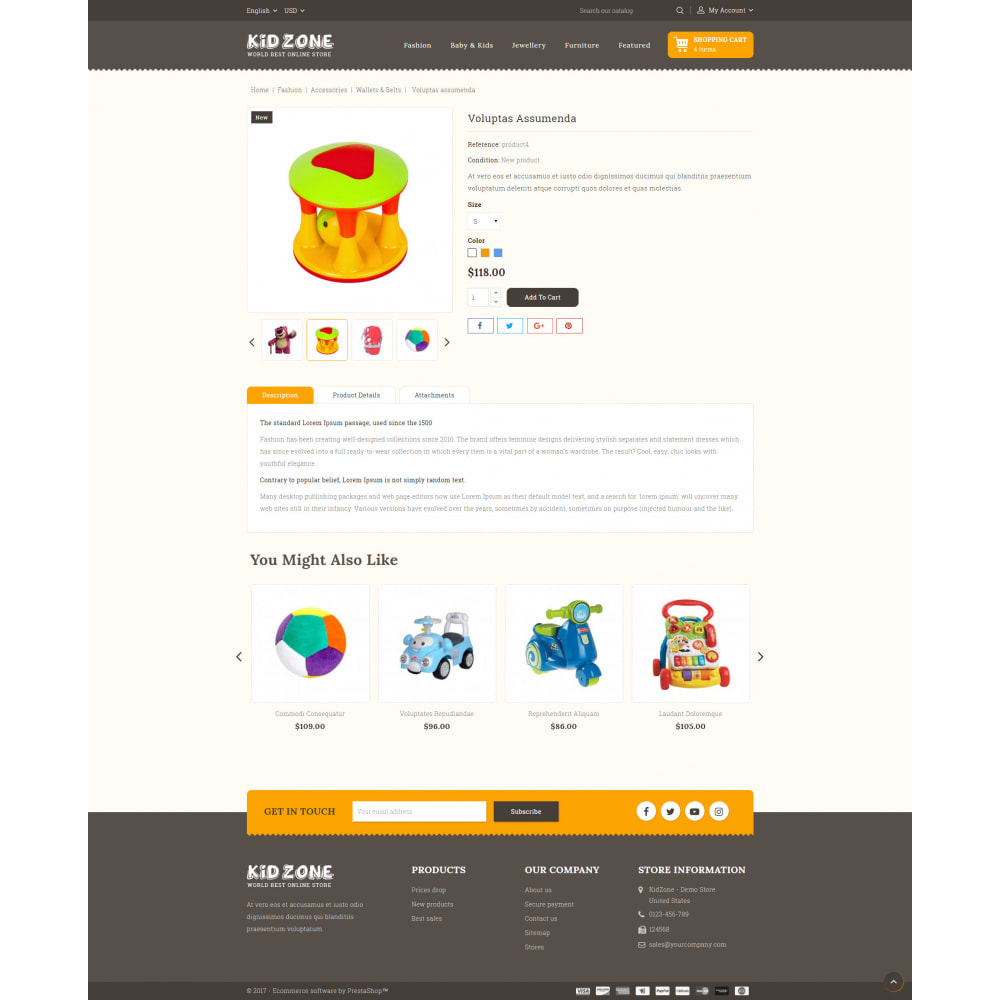 theme - Kids & Toys - Kid Zone Online Store - 5