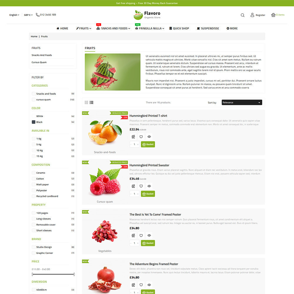 theme - Food & Restaurant - Flavoro - Fresh Organic Food Delivery Store - 10