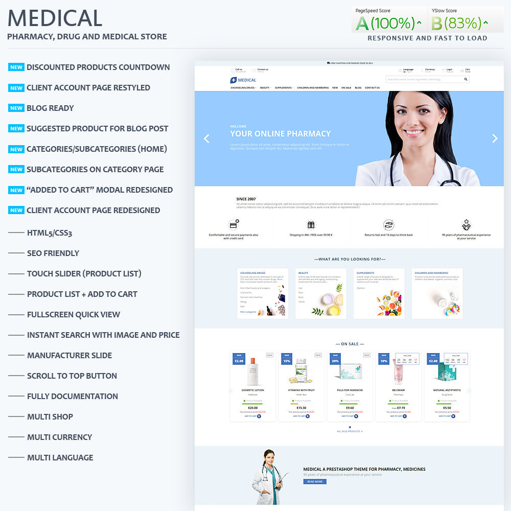 theme - Zdrowie & Uroda - Medical for pharmacy, health and medical store - 1