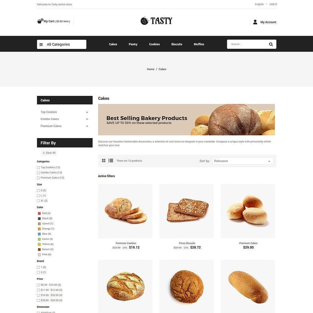 theme - Food & Restaurant - Tasty Bakery  - Pizza Bread Burger Store - 3
