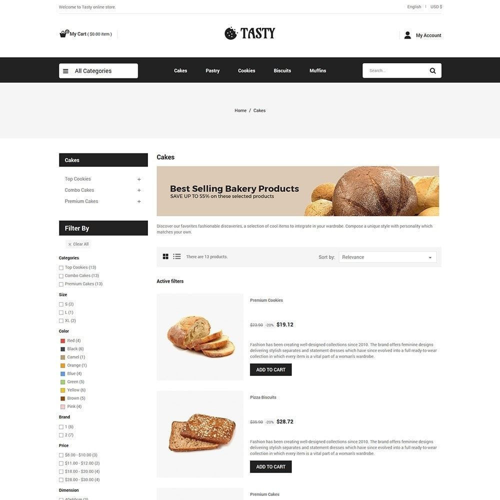 theme - Food & Restaurant - Tasty Bakery  - Pizza Bread Burger Store - 4