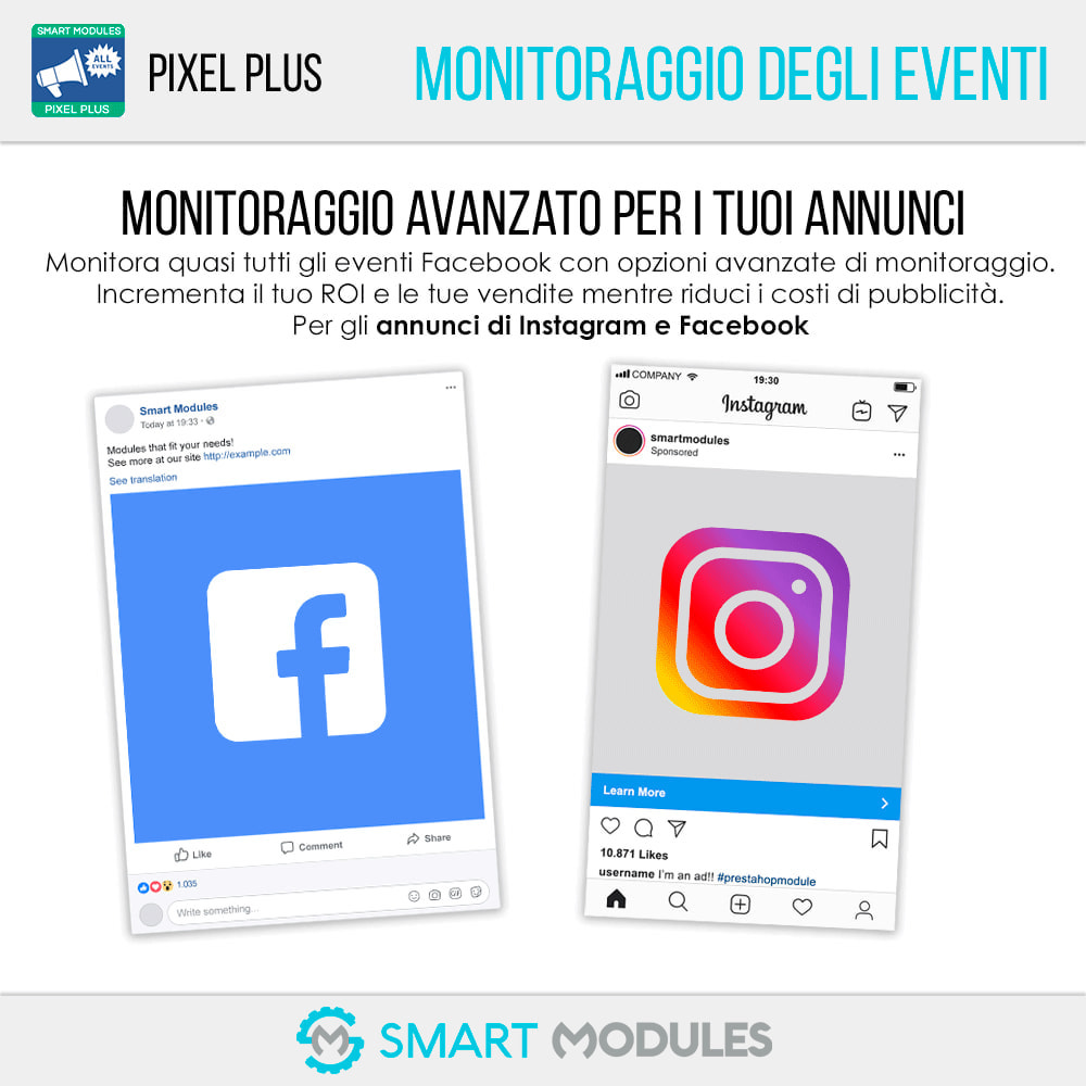 module - Analytics & Statistiche - Pixel Plus: Conversioni ed Eventi + Catalogo Pixel - 1