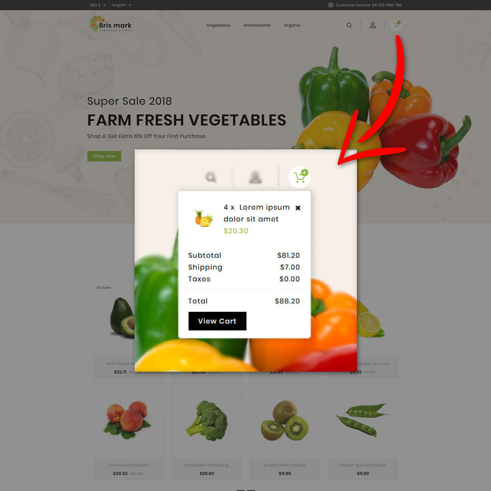theme - Lebensmittel & Restaurants - Brismark - Vegetabels Store - 7