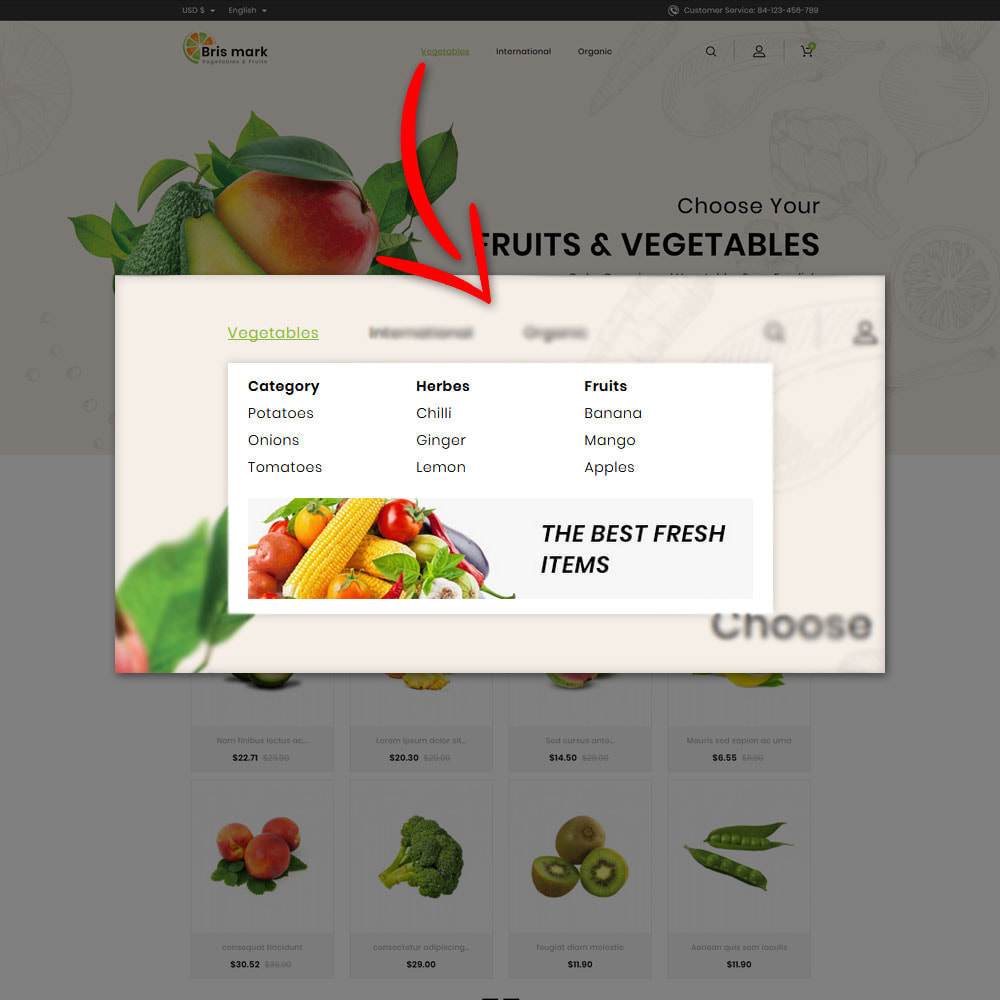 theme - Lebensmittel & Restaurants - Brismark - Vegetabels Store - 8
