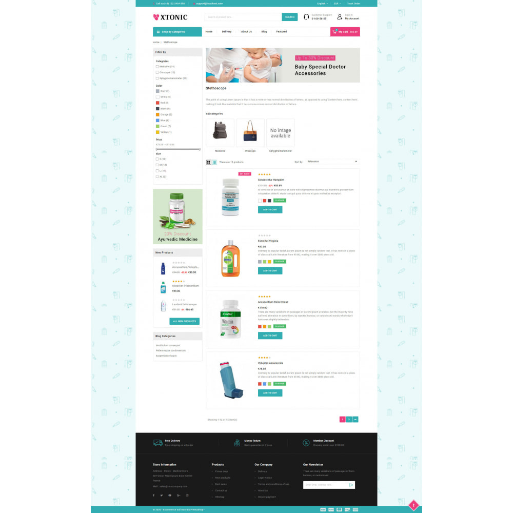 theme - Health & Beauty - Xtonic - Medicine Store - 4