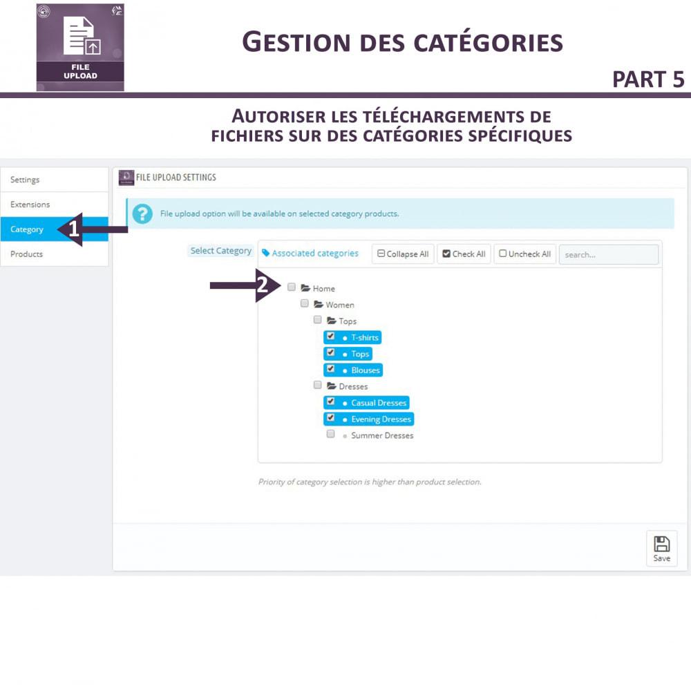 module - Information supplémentaire & Onglet produit - Téléchargement de fichiers par le client - 12