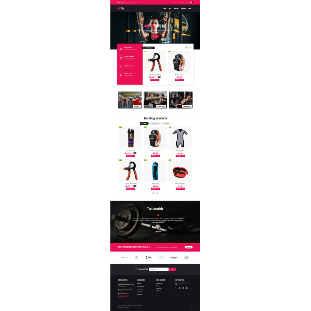 theme - Sports, Activities & Travel - VP_Crossfit - Page Builder - 2