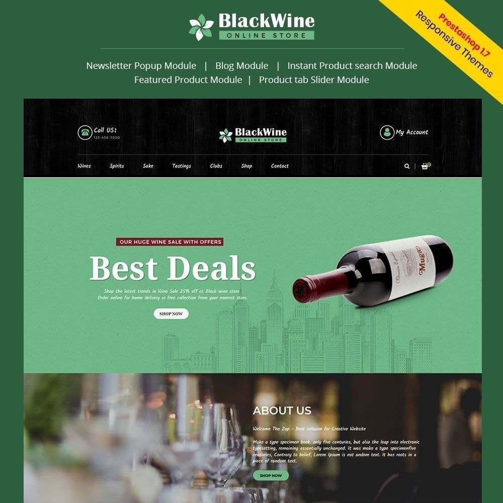 theme - Bebidas & Tabaco - Black Alcohol Drink - Wine Store - 1