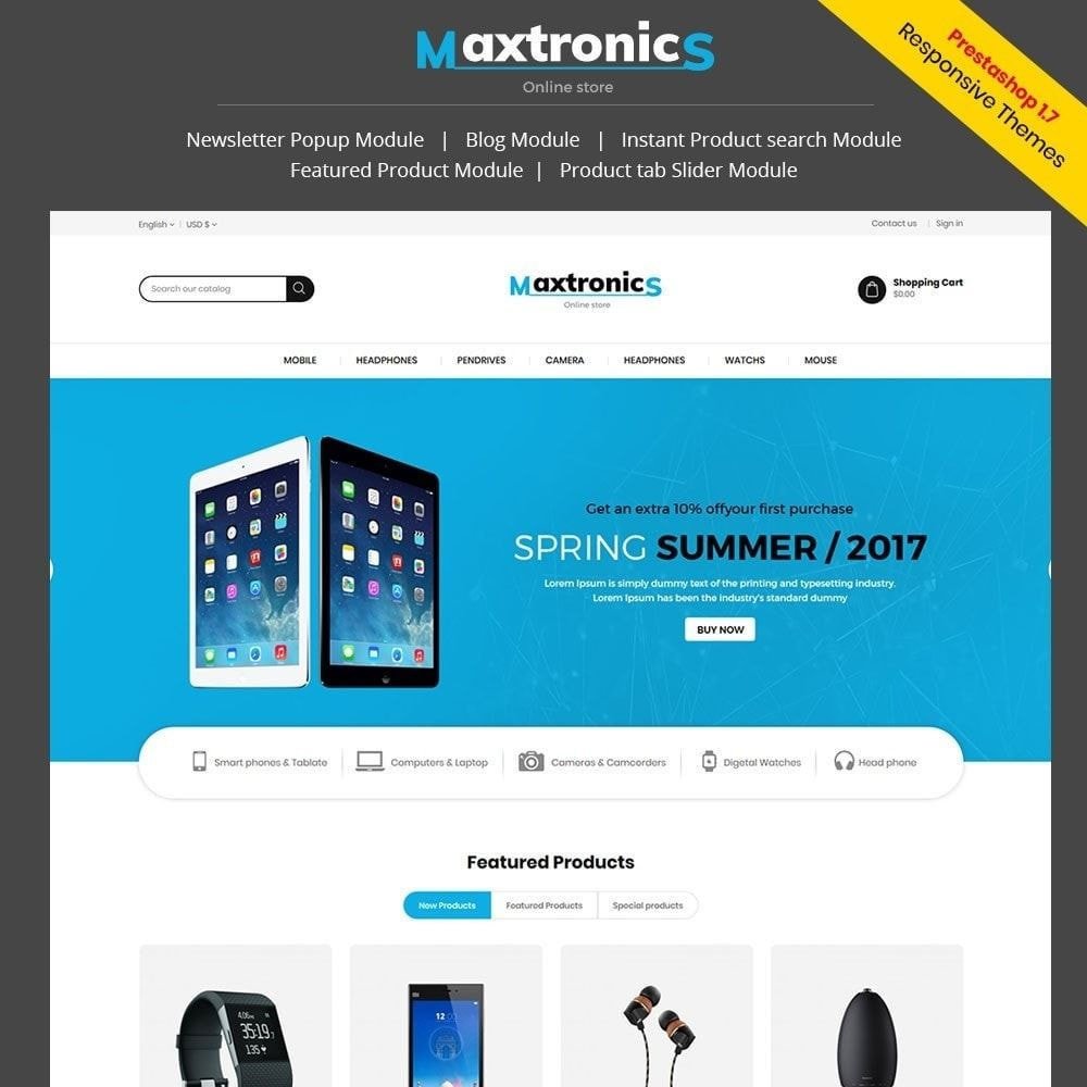 theme - Elettronica & High Tech - Maxtronics Mobile - Digital Electronics Store - 1