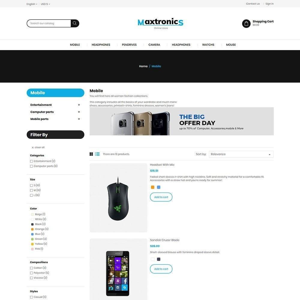 theme - Elettronica & High Tech - Maxtronics Mobile - Digital Electronics Store - 4