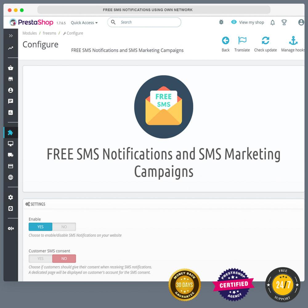 module - Nieuwsbrief & SMS - Gratis sms-meldingen via eigen netwerk - 3