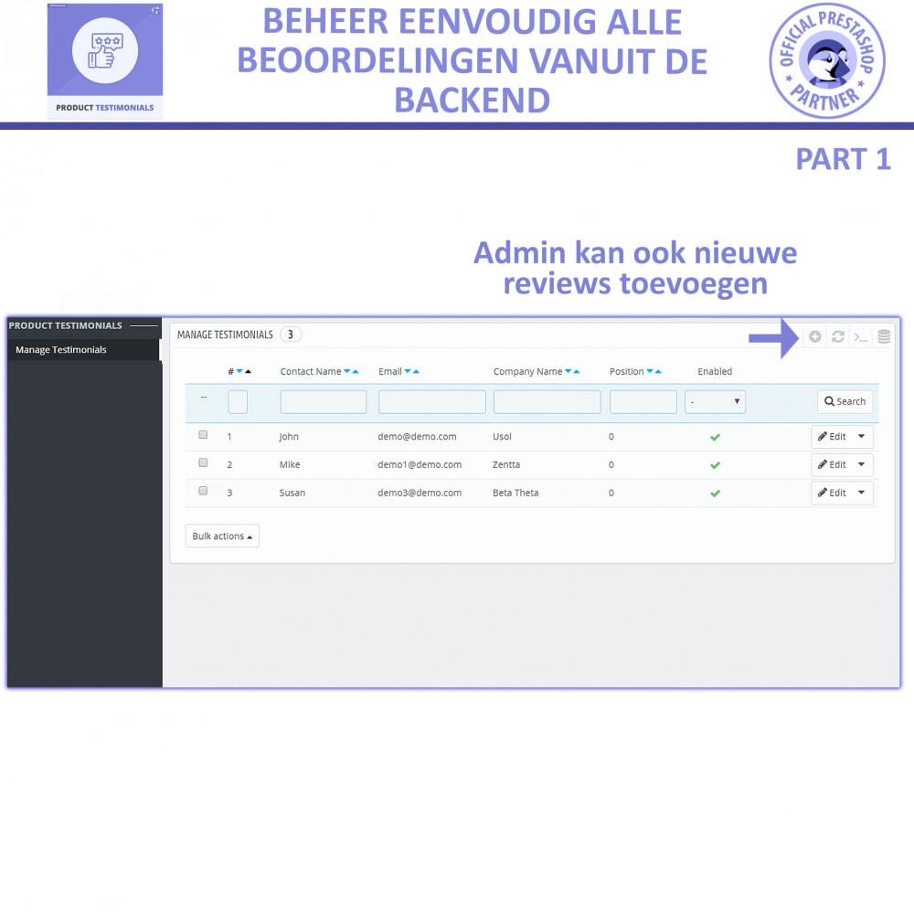 module - Klantbeoordelingen - Klant Productbeoordelingen + Getuigenissen van Winkels - 7