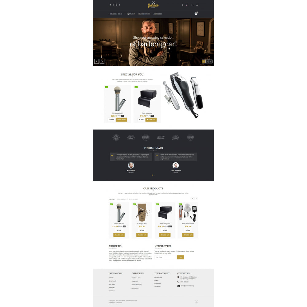 theme - Jewelry & Accessories - VP_Barber - Page Builder - 2