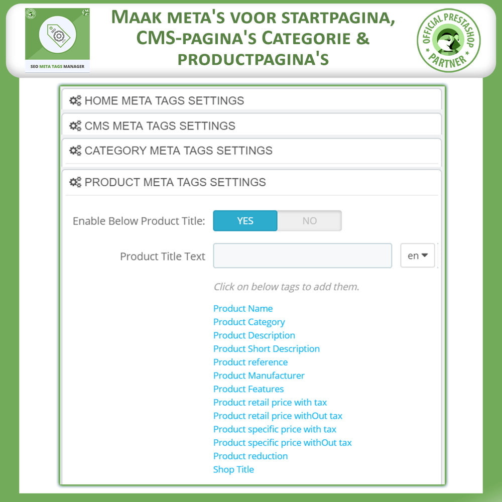 module - SEO - Meta Tag Manager - 5