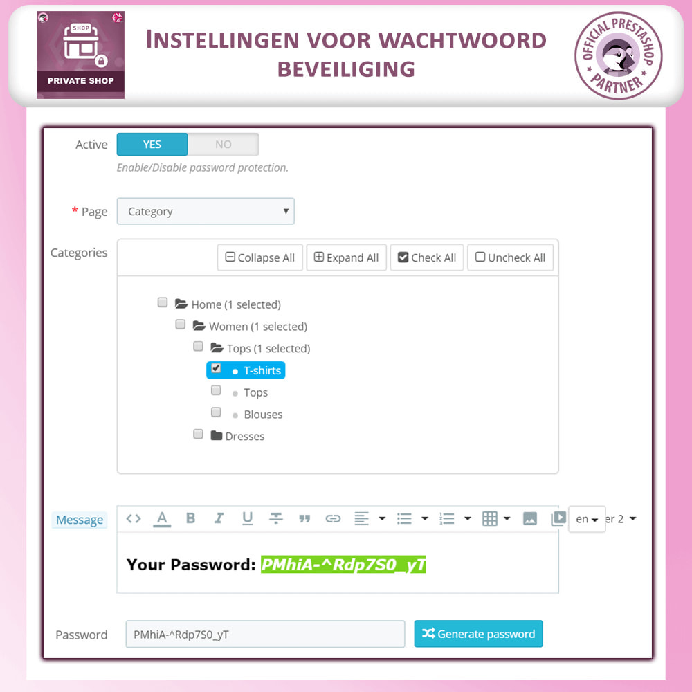 module - Uitverkoop & Besloten verkoop - Prive Winkel - Inloggen om producten te zien/Winkel - 18