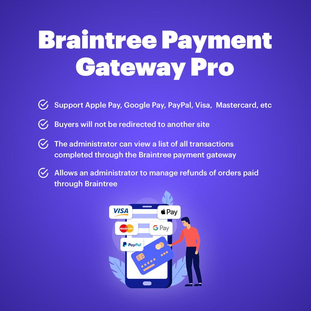module - Оплата банковской картой или с помощью электронного кошелька - BrainTree Payment Gateway PRO for PrestaShop 1.6 - 1