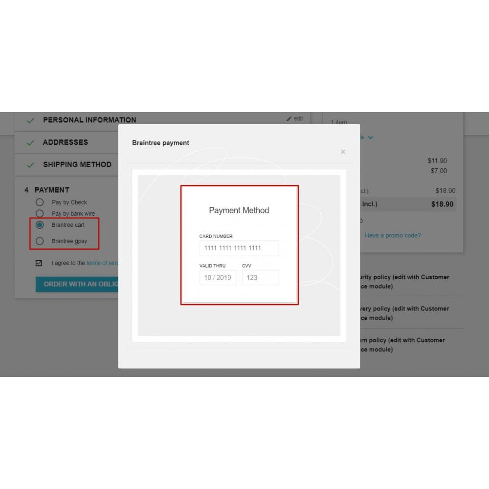 module - Оплата банковской картой или с помощью электронного кошелька - BrainTree Payment Gateway PRO for PrestaShop 1.6 - 10