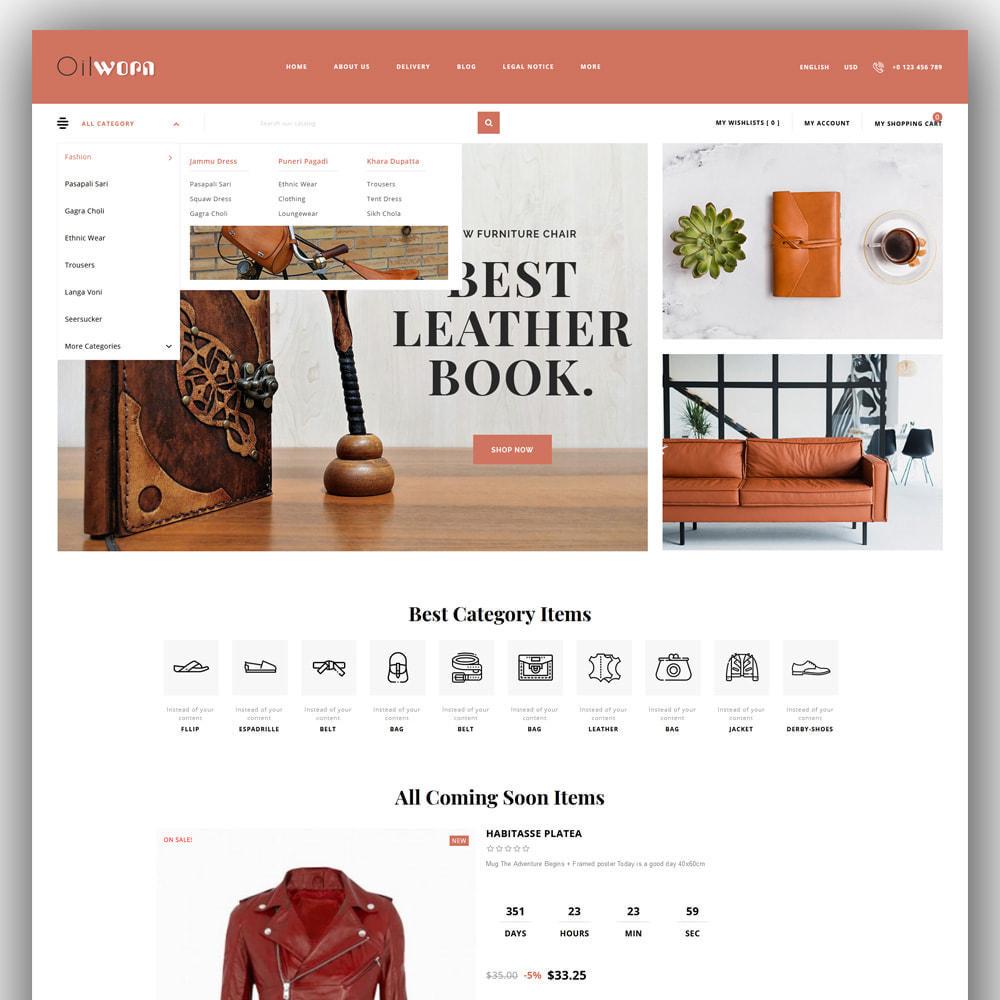 theme - Мода и обувь - Oilworn - Leather Store - 2