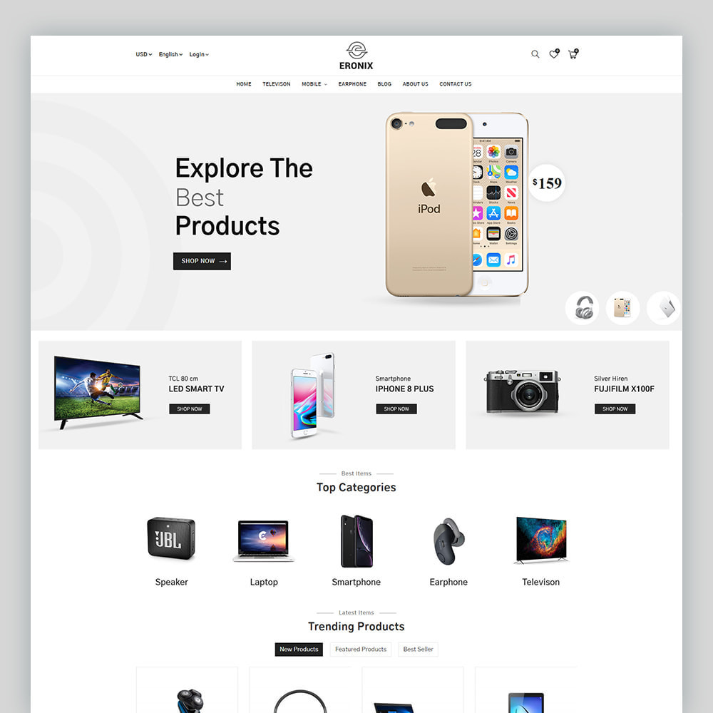 theme - Electrónica e High Tech - Eronix Mega Electronic Super Store Template - 2