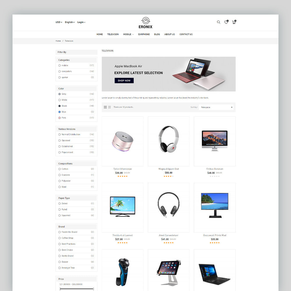theme - Electrónica e High Tech - Eronix Mega Electronic Super Store Template - 5