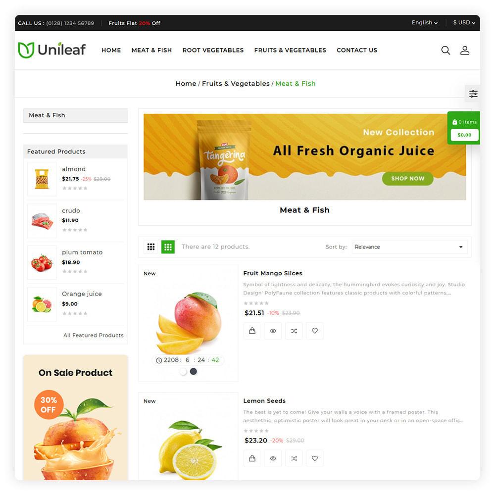 theme - Żywność & Restauracje - Unileaf Organic Store - 4
