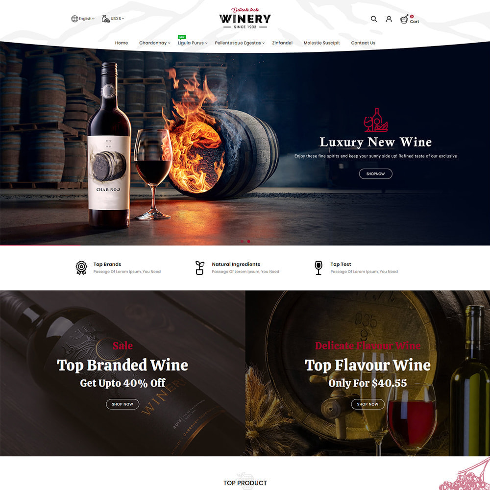 theme - Drink & Wine - Winery - Beer & Wine Store - 2