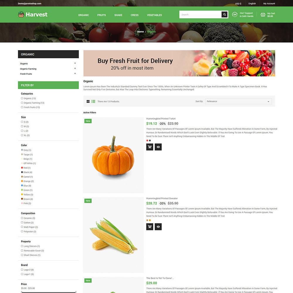 theme - Cibo & Ristorazione - Harvest Vegetables - Negozio di frutta fresca - 5