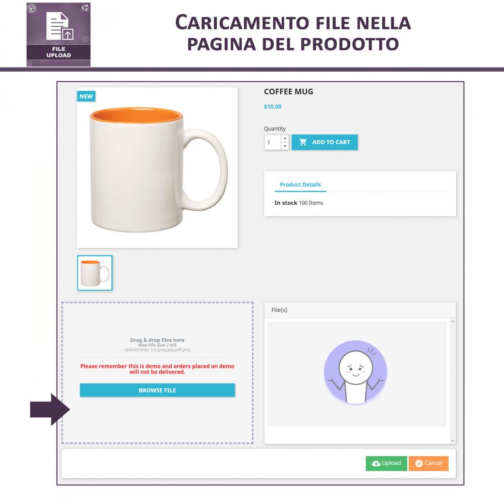 module - Altre informazioni & Product Tab - Caricamento File da Parte del Cliente - 2