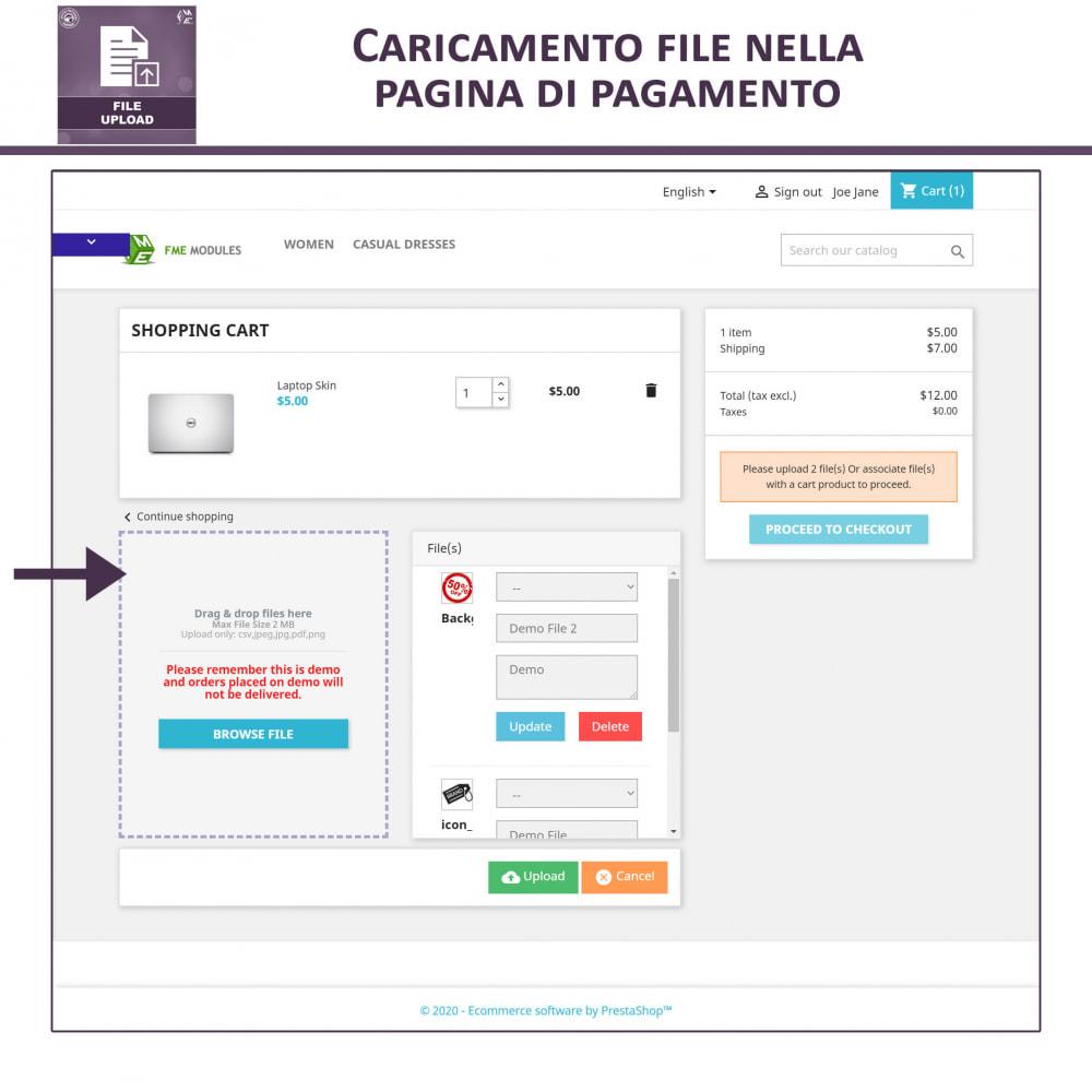 module - Altre informazioni & Product Tab - Caricamento File da Parte del Cliente - 5