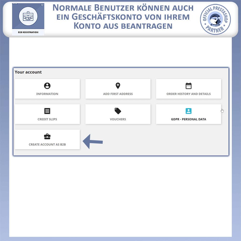 module - Anmeldung und Bestellvorgang - B2B-Registrierung - 4