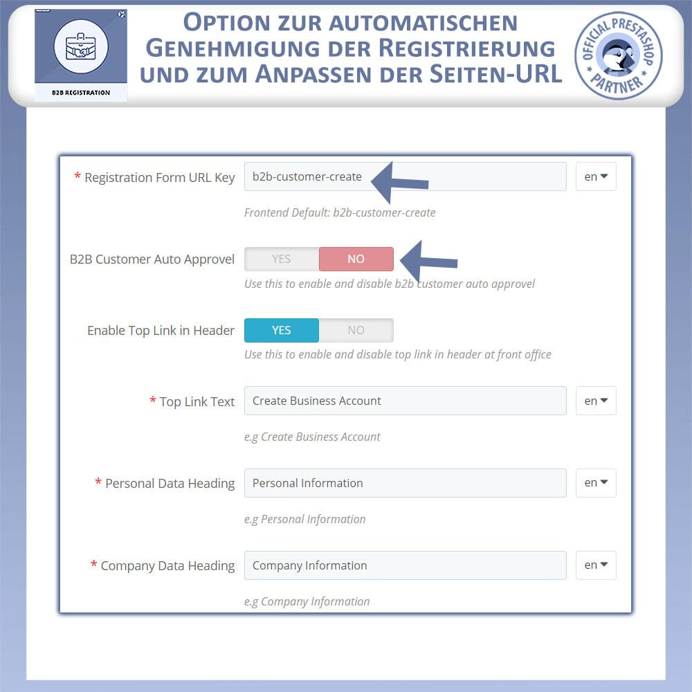 module - Anmeldung und Bestellvorgang - B2B-Registrierung - 6