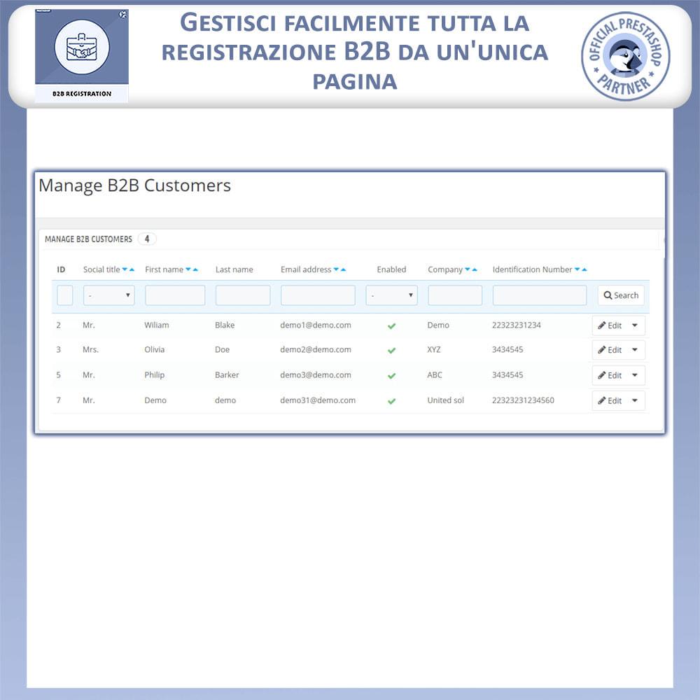 module - Iscrizione e Processo di ordinazione - Registrazione B2B - 5