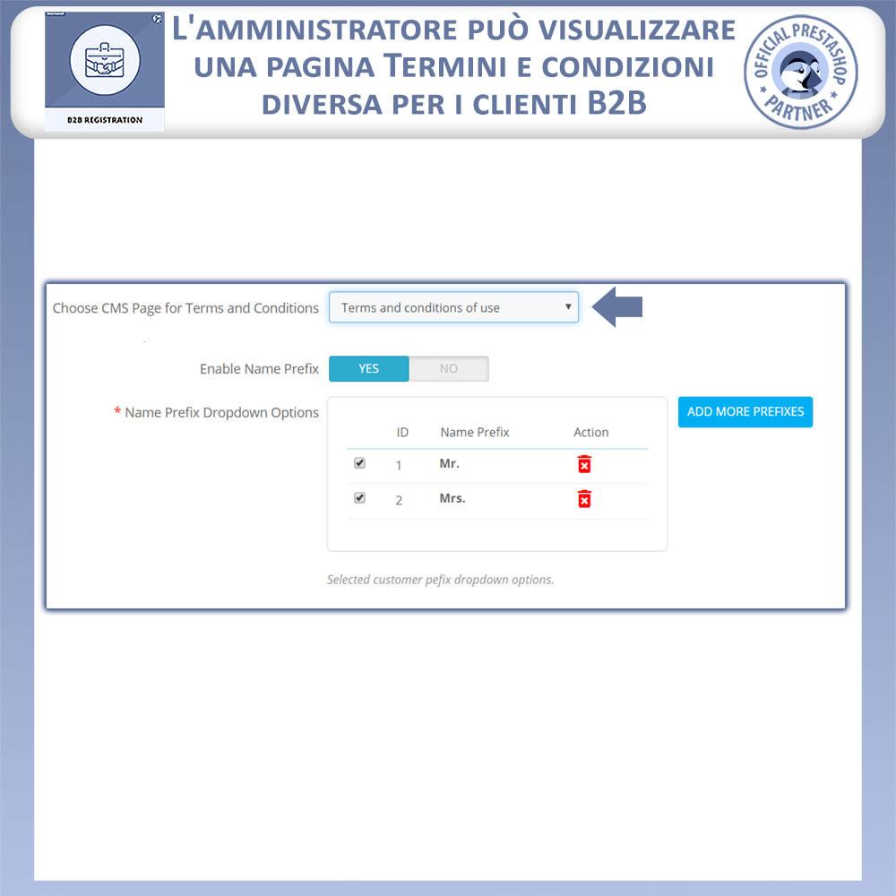 module - Iscrizione e Processo di ordinazione - Registrazione B2B - 7