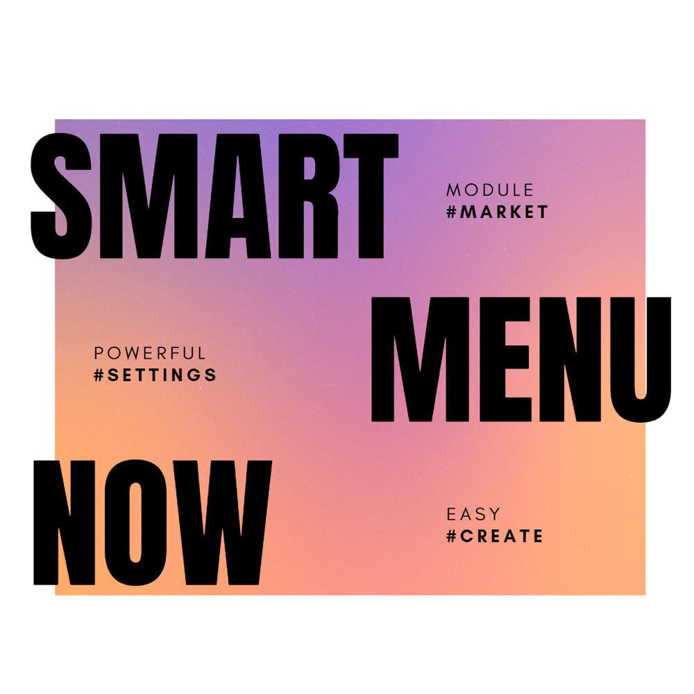 module - Menu - Smartmenu - super intuitive menu - 1