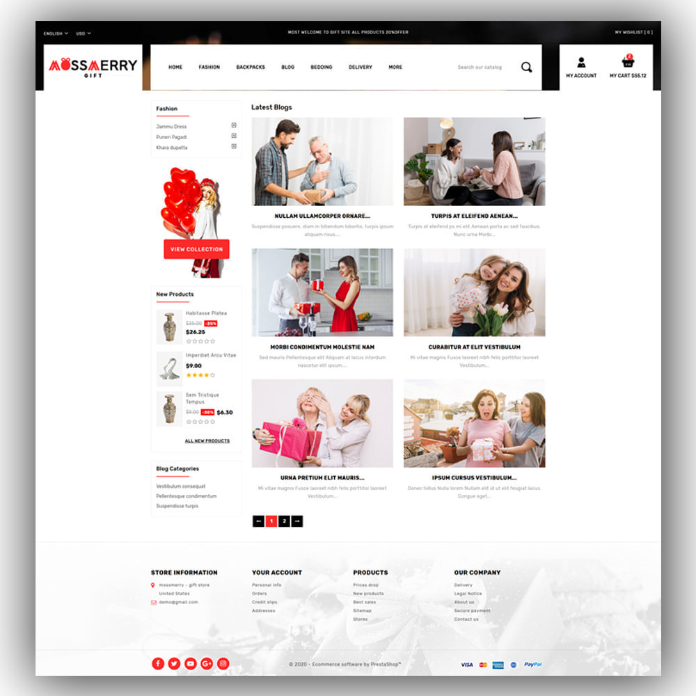 theme - Gifts, Flowers & Celebrations - Mossmerry - Gift Store - 7