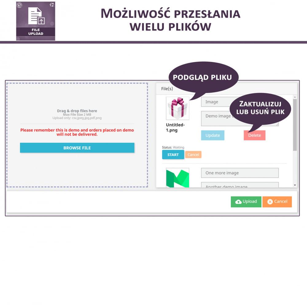 module - Dodatkowe informacje & Zakładka produktu - Przesyłanie Pliku Przez Klienta z Produktu, Cart - 3