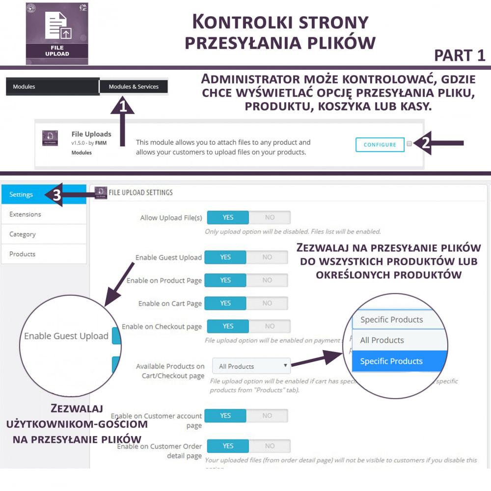 module - Dodatkowe informacje & Zakładka produktu - Przesyłanie Pliku Przez Klienta z Produktu, Cart - 8