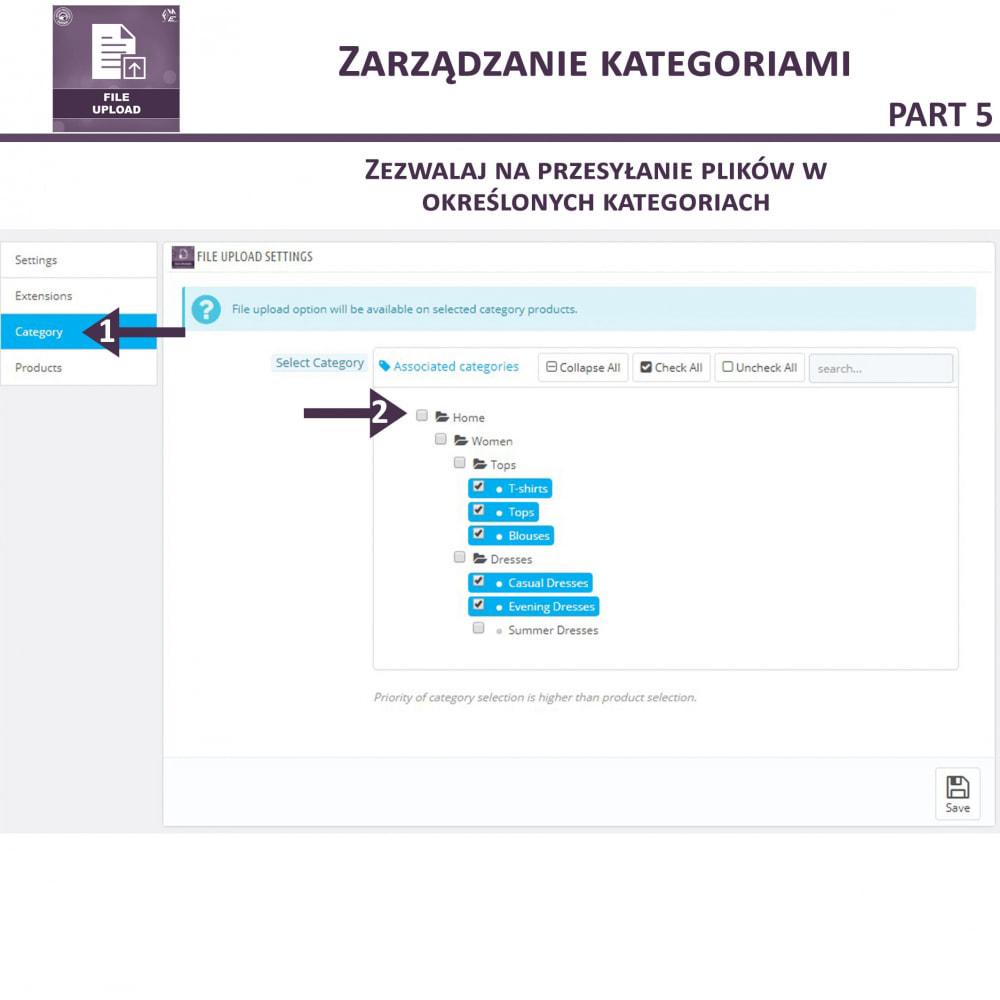 module - Dodatkowe informacje & Zakładka produktu - Przesyłanie Pliku Przez Klienta z Produktu, Cart - 12