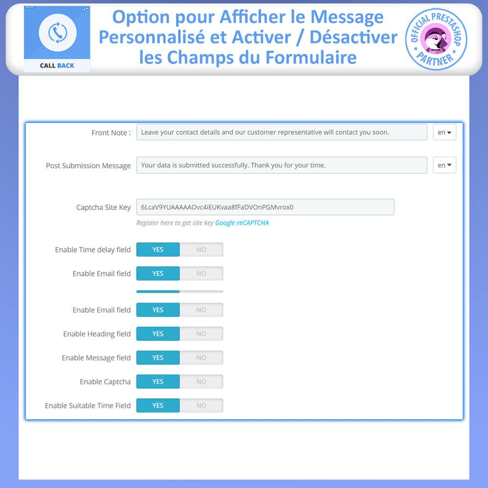 module - Support & Chat Online - Rappeler - Formulaire de rappel fixe et flottant - 9
