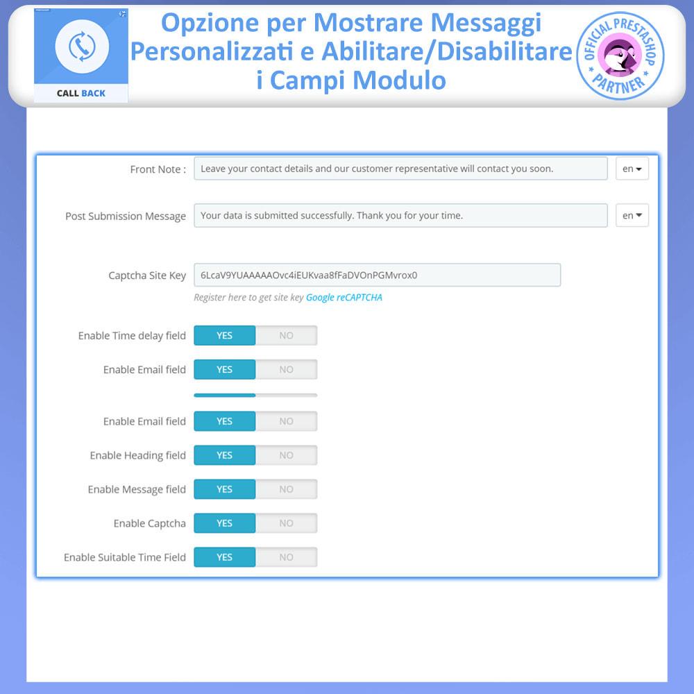 module - Supporto & Chat online - Call Back - Modulo di Richiamo Fisso e Mobile - 9