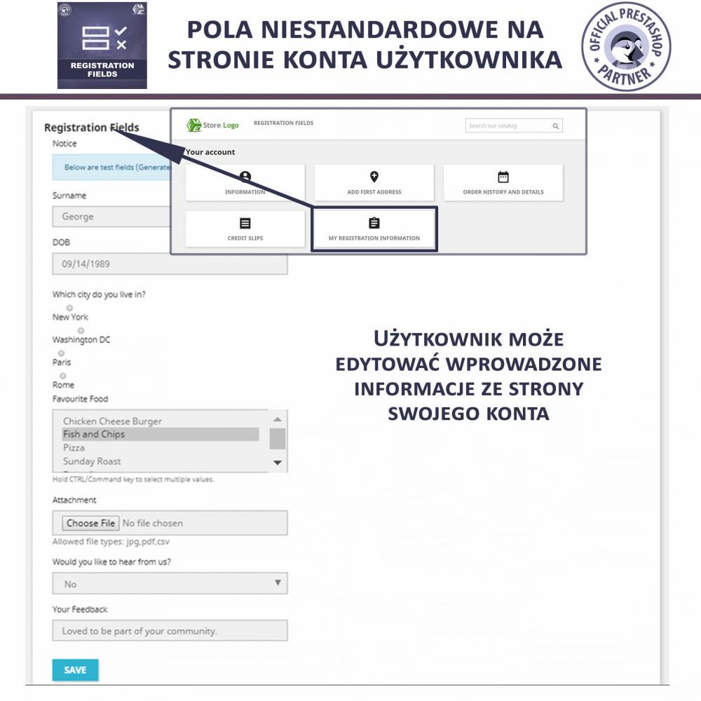 module - Procedury składania zamówień - Niestandardowe Pola Rejestracyjne - 4
