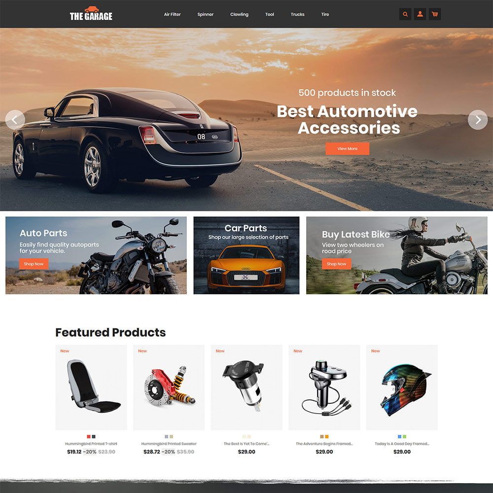 theme - Auto & Moto - The Garage Car - Magasin d'automobiles - 2