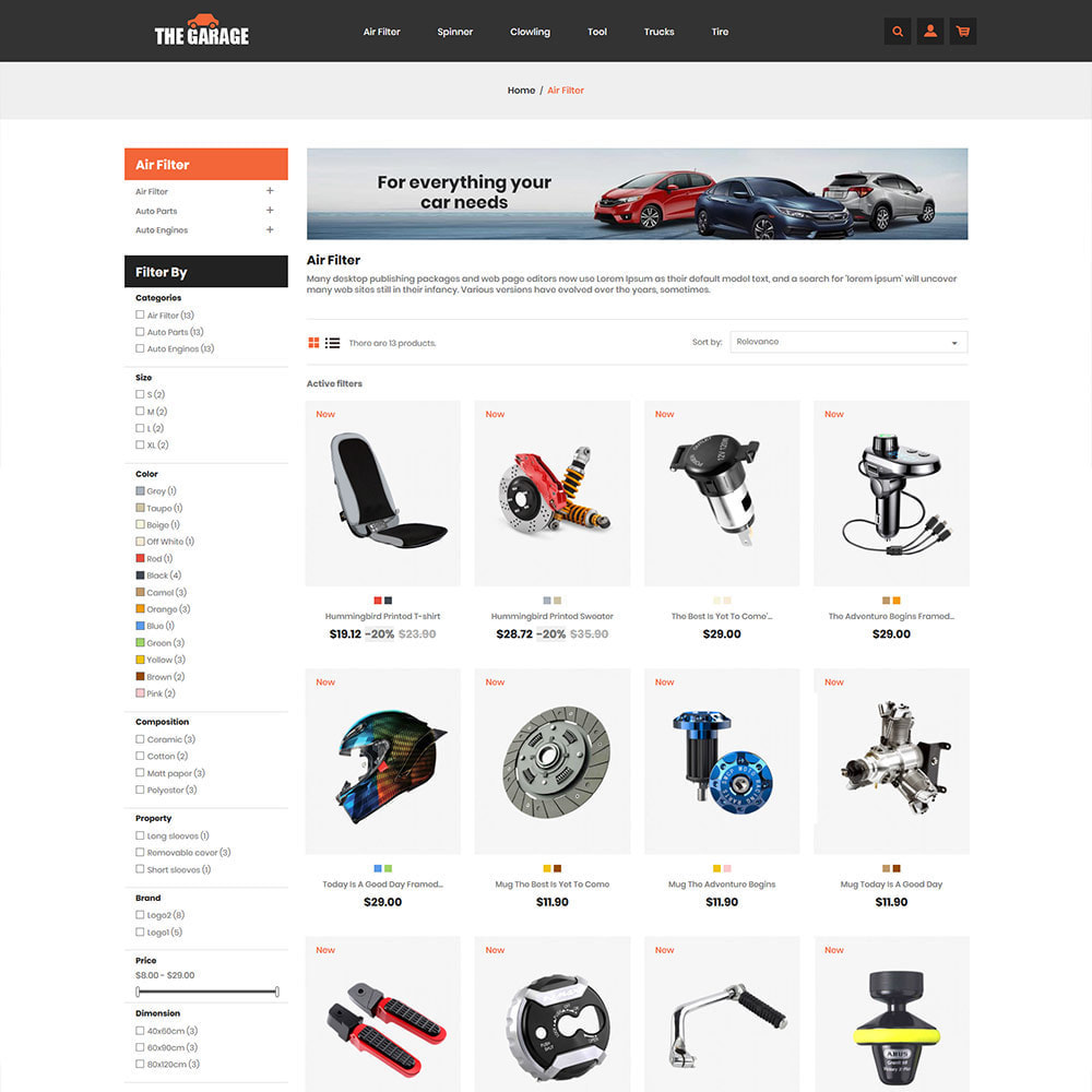 theme - Auto & Moto - The Garage Car - Magasin d'automobiles - 3